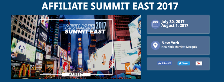 The Affiliate Summit is one of the top ecommerce events in 2018.