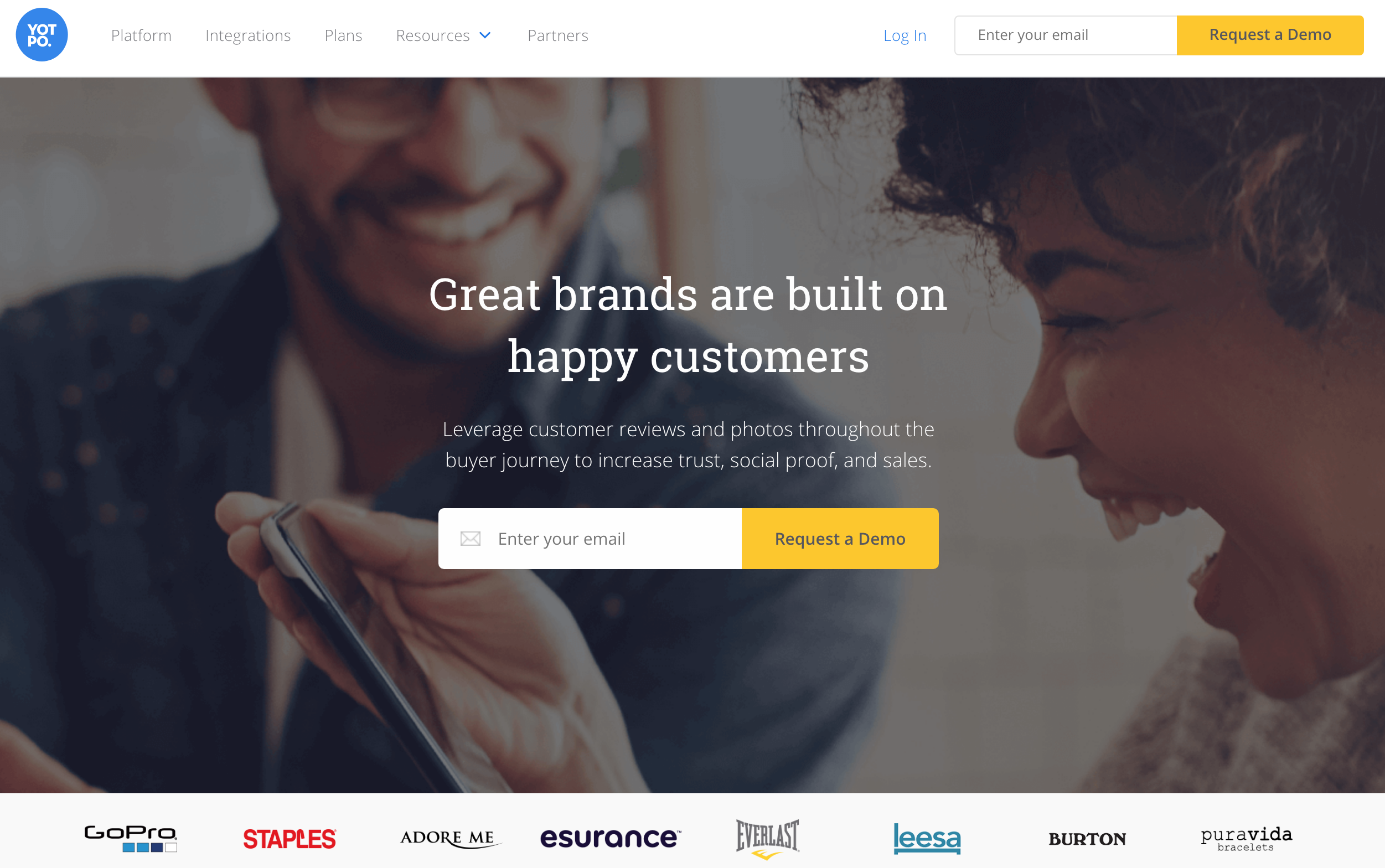User generated reviews on Yotpo